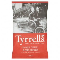 Tyrrells Crisps Sweet Chilli And Red Pepper Crisps 150G