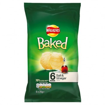 Walkers Baked Salt And Vinegar 6X25g