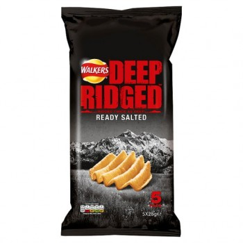 Walkers Deep Ridged Ready Salted Crisps 5X28g
