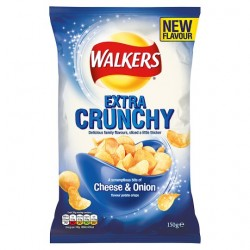 Walkers Extra Crunchy Cheese And Onion 150G