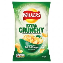 Walkers Extra Crunchy Salt And Vinegar 150G