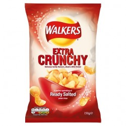 Walkers Extra Crunchy Simply Salted 150G