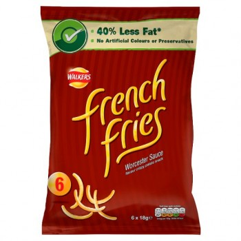 Walkers French Fries Worcester Sauce 6X19g