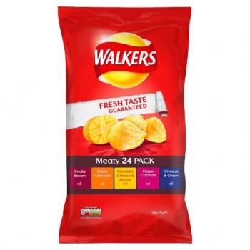 Walkers Meaty Crisps 24X25g