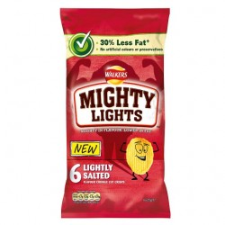 Walkers Mighty Lightly Salted Crisps 6 Pack 150G
