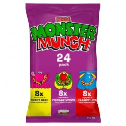 Walkers Monster Munch Crisps 24X22g