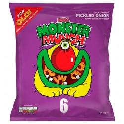 Walkers Monster Munch Pickled Onion Snacks 6 Pack