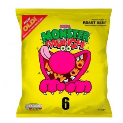 Walkers Monster Munch Roast Beef Snacks 6 Pack
