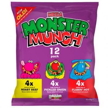 Walkers Monster Munch Variety Snacks 12X22g