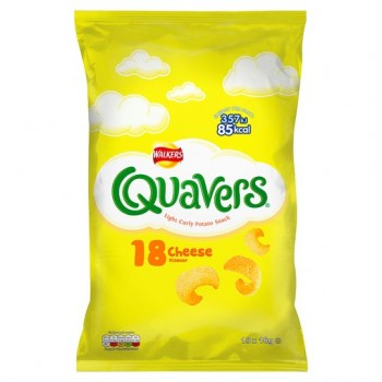 Walkers Quavers Cheese 18 Pack 16.4G
