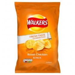 Walkers Roast Chicken Crisps 6X25g