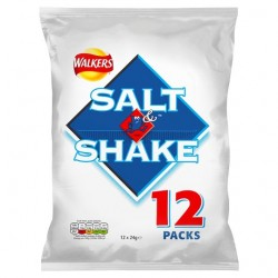 Walkers Salt And Shake Crisps 12X24g