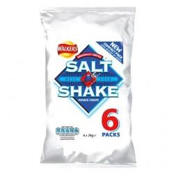 Walkers Salt And Shake Crisps 6X24g