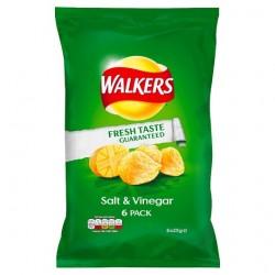 Walkers Salt And Vinegar Crisps 6X25g