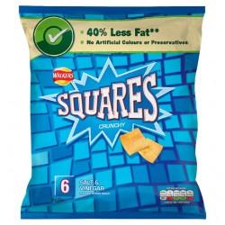 Walkers Squares Salt And Vinegar Snacks 6 Pack