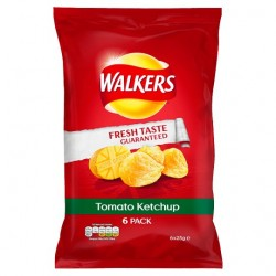 Walkers Tomato Ketchup Crisps 6 Pack
