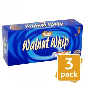 Walnut Whips Vanilla 3 Pack 98G