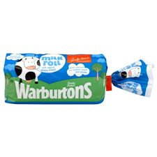 Warburtons BlackPool Milk Roll Sliced White Bread 400G