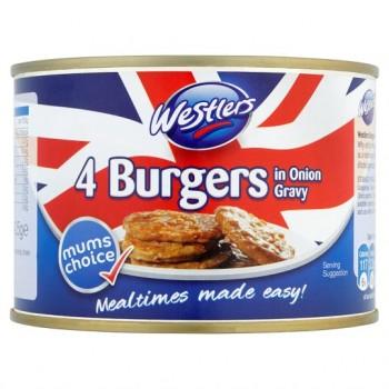 Westler Burgers In Onion Gravy 4 Pack 425G