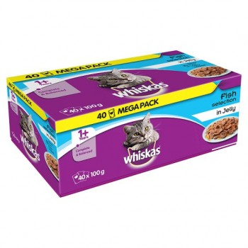 Whiskas Pouches Fisherman Choice In Jelly 40X100g
