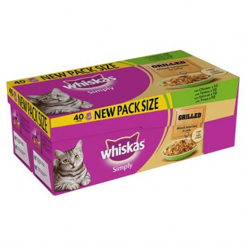 Whiskas Simply Grilled Mixed Pouch 40X85g