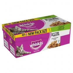 Whiskas Tasty Bite'n Chew Mixed 40X85g Pack