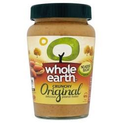 Whole Earth No Added Sugar Crunchy Peanut Butter 454G