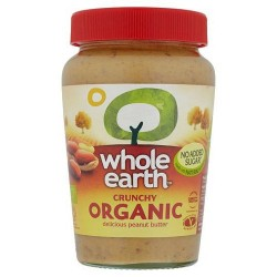Whole Earth Organic Crunchy Peanut Butter340g