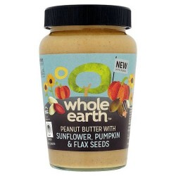 Whole Earth Smooth Peanut Butter Mixed Seeds 340G