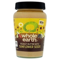 Whole Earth Smooth Peanut Butter Sunflower Seed 340G