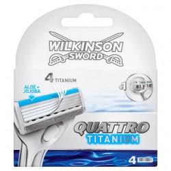 Wilkinson Sword Quattro Titanium Blades 4'S
