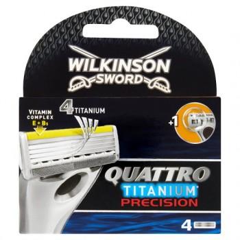 Wilkinson Sword Quattro Titanium Precision Blades 4 Pack