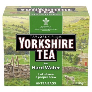 Yorkshire Hard Water 80 Teabags 250G