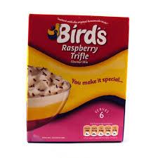 birds raspberry trifle