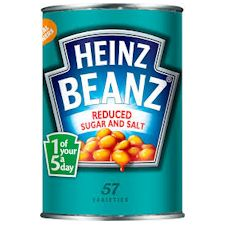 heinz beans reduced sugar