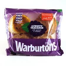 warburtons teacakes x 4