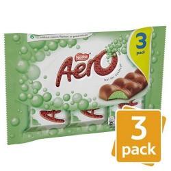 Aero Mint Chocolate 3 Pack 120G
