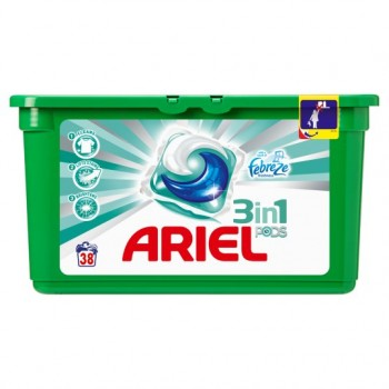 Ariel Febreze 3 In 1 Laundry Pods 38 Washes