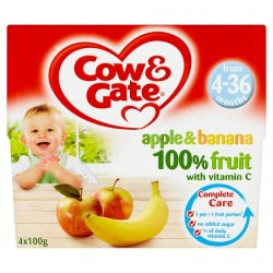 Cow And Gate 4 Month+ Apple And Banana Pots 4 X 100G