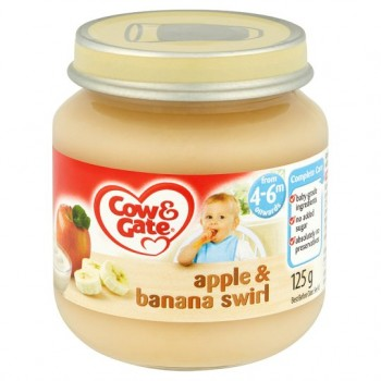 Cow And Gate 4 Month+ Apple And Banana Swirl 125G