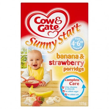 Cow And Gate 4 Month+ Banana And Strawberry Porridge 125G