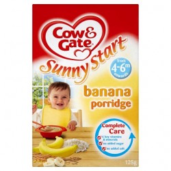 Cow And Gate 4 Month+ Banana Porridge 125G