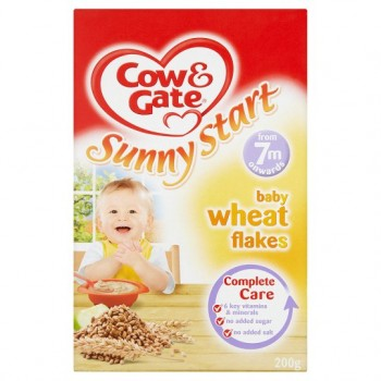 Cow And Gate 7Mth+ Baby Wheat Flakes 200G