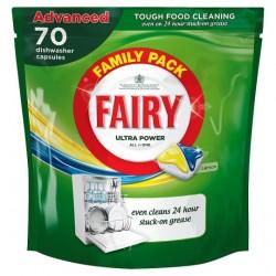 Fairy Allin One Dishwasher Lemon 70'S