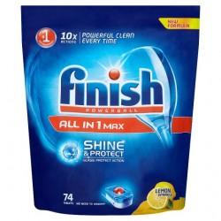 Finish All In 1 Lemon 74 Dishwasher Tablets