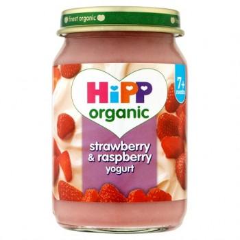 Hipp 7 Month Organic Strawberry And Raspberry Yoghurt 160G