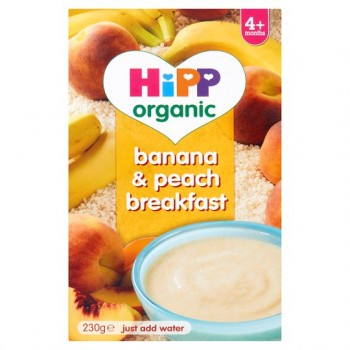 Hipp Organic 4 Month Banana And Peach Breakfast 230G