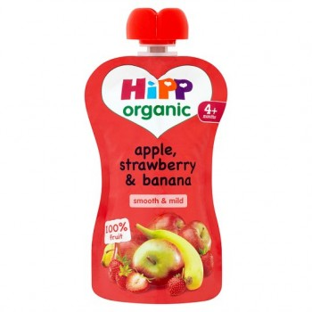 Hipp Organic Apple, Strawberry And Banana 100G