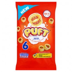Hula Hoops Puft Salted 6X15g