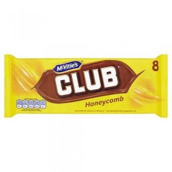 Jacob's Club Honeycomb Biscuit 8 Pack 181G